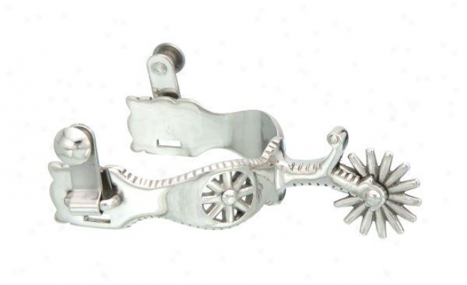 Kelly Silver Star Rowel Show Spurs - Stainless Steel