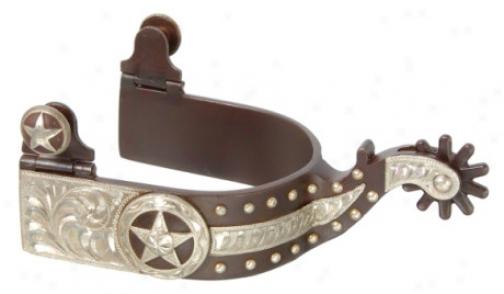 Kelly Silver Stsr Spurs - Stars & Dots