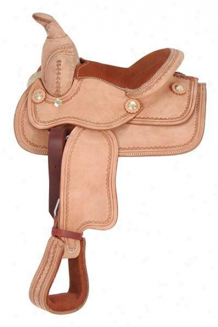 King Series Miniature Western Deluxe Saddle - Medium Tan - 8