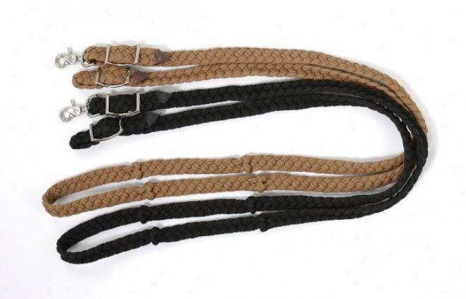 Knotted Cord Roping Reins' - Hunter Green - 8'