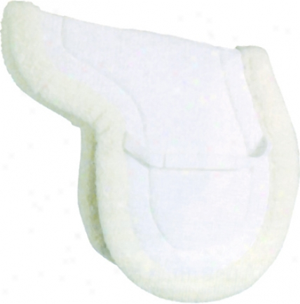 Lamk-cell Airflowshaped Close Contact Sadle Pad - White - Horse