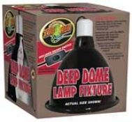 Lamp Clamp Reptile Deep Dome - Black - 8 1/2w 9h