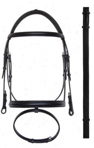 M. Toulouse Rasied Dressage Bridle With Covered Reins