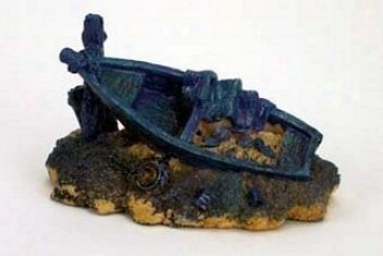 Marina Shipwreck Ornament - Beached Boat - Assorted (blue Or Green Only)