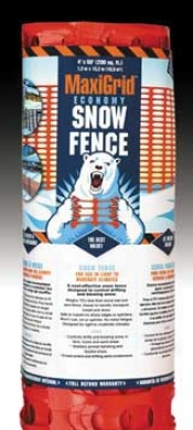 Maxigrid Snow Fence - Orange - 4x50 Ft