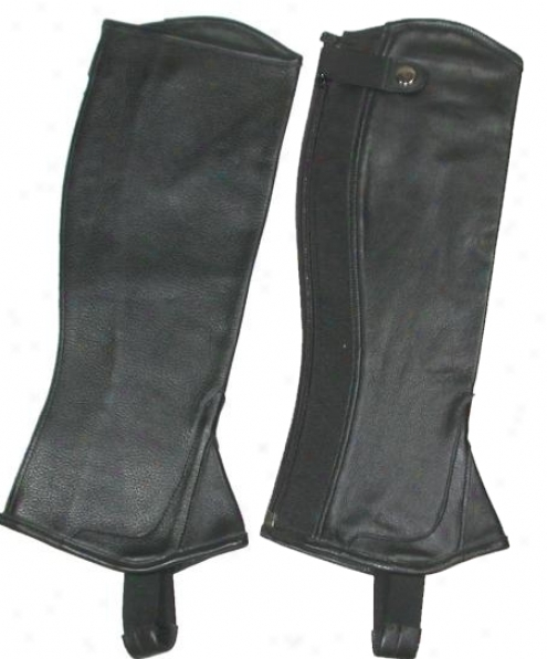 Mcalister Printed Half Chaps With  Gusset - Black - S