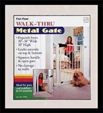 Metal Walk Thru Dog Gate