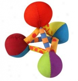 Mini Plush Pyramid Toy For Dogs - Multicolor