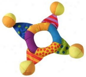Mini Toss Ring Toy For Dogs - Multicolor