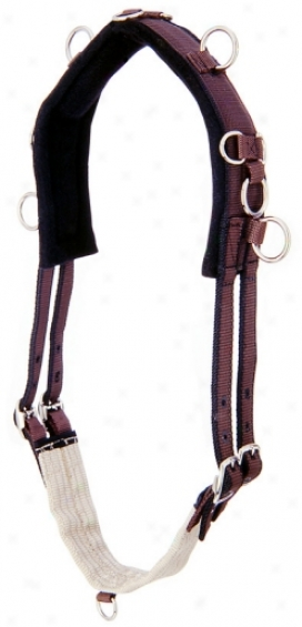 Small portrait Cavalry Nylon Instruction Surcingle - Brown - Miniature Horse 40.5-53.5