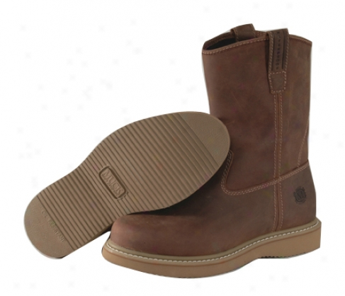 Muck Boot Company Wellie Classic 10 Dark Brown 100% Waterproof Leather Labor Boot