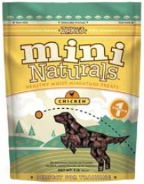 Natural Moist Mini Dog Treat - Chicken - 1 Pound