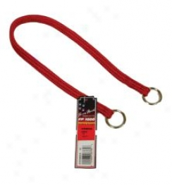 Nylon Choker Collar For Dogs - Red - 12in