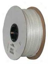 Nylon Cord Solid Braid - White - 1/8 X 1000 Feet