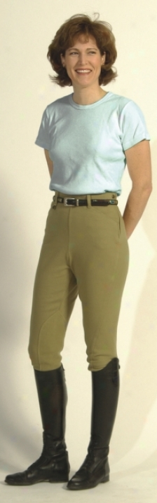 On Course Cotton Natural Side-zip Breech