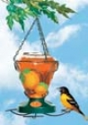 Oriole Gem-cut Glass Feeder - Orange/black - 24 Oz