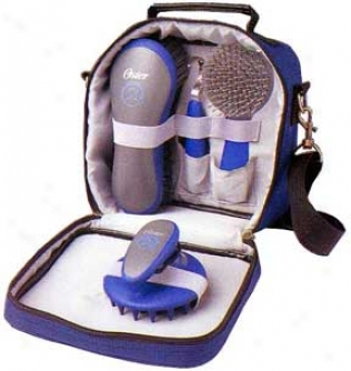 Oster 5pc Grooming Kit For Horse - Blue With Grey