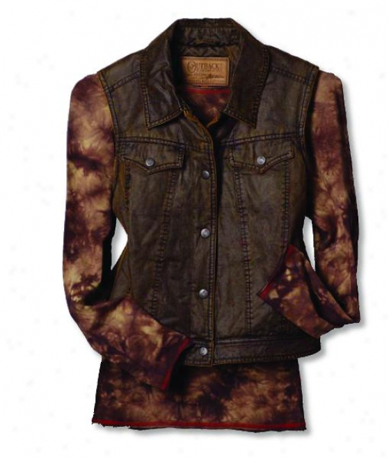 Outback Tradinh Ladies Mesa Vest - Brown - X-small