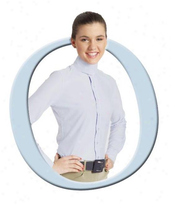 Ovation Dx Ratcatcher Ladies Long Sleeve Riding Shirt