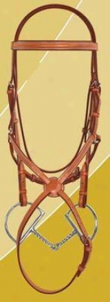 Ovation Jumper Bridle With Figure Eight Noseband Less Loins.