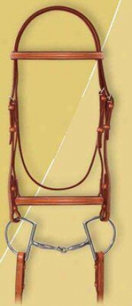 Ovation Plain Raised Bridle With Laced Reins.