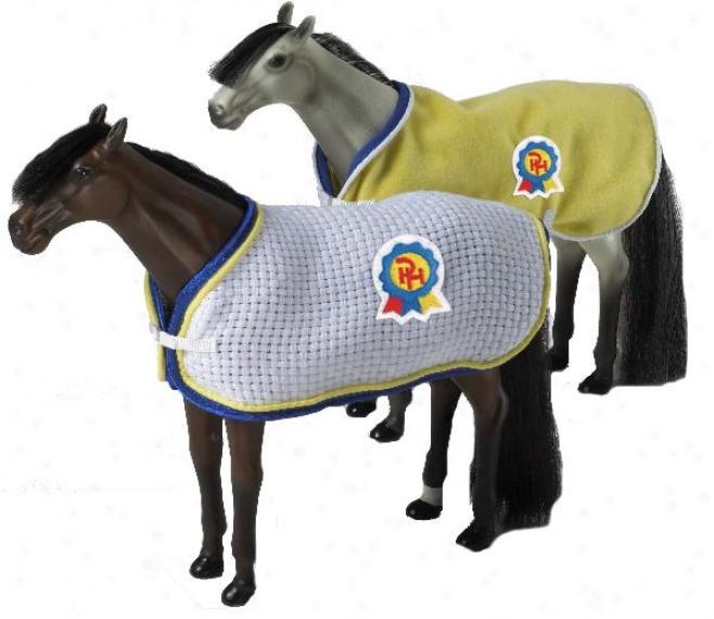 Paradise Horses Stable Blaknet & Anti-sweat Sheet Set - 1:9 Scale