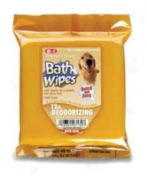 Pc Bath Deodorizing Dog Wipes For Between Baths - 12 Pack