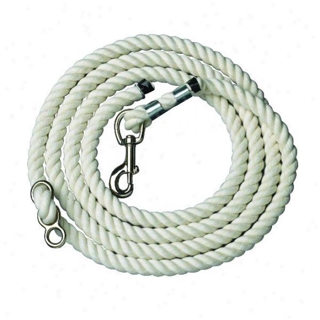 Perri's Pure Cotton Neck Rope - White - 10'