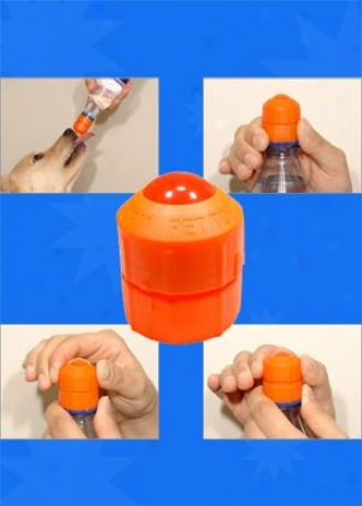 Pet Top Portable Drinking Device - Combo Pack - Orange