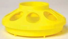 Plastic Feeder Base - Yellow - 1 Quart