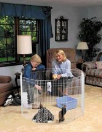 Play Pen For Small Animals - White