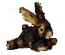 Plush Dog Toy - Black/brown - 15 Inch/ Rabbit