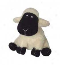 Plush Dog Toy - White - 10 Inches  /Sheep