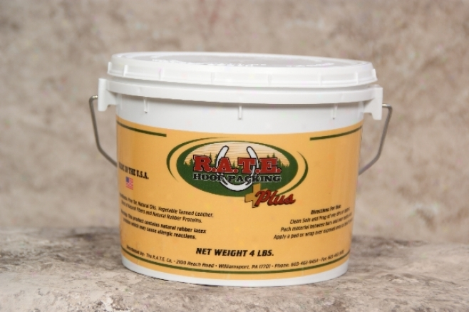 R.a.t.e. Hoof Packing - Plus - 4-lb Bucket
