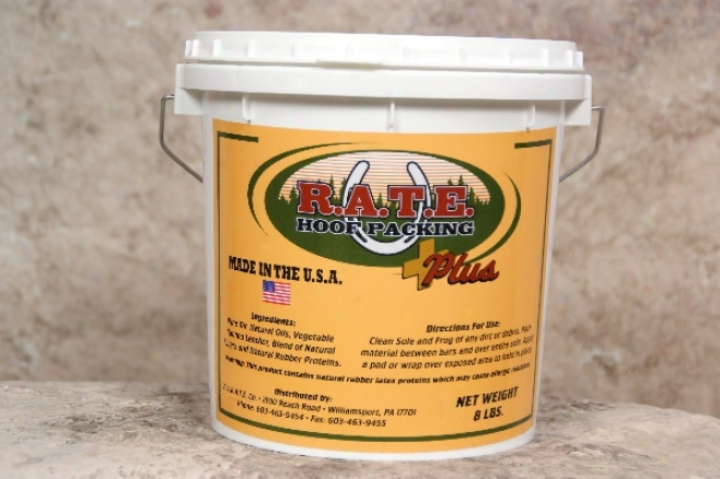 R.a.t.e. Hoof Packing - Plus - 8-lb (1 Gal) Bucket