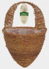 Rattan Half Hive Wall Basket