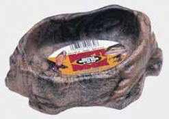 Repti Rock Water Dish For Reptiles/amphibians - Assorted - Medium(6.5x5)