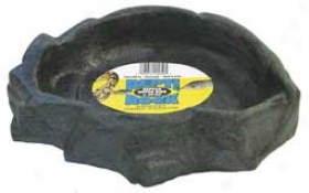 Repti Rock Water Dish For Reptiles/amphibians - Assorted - Extra Large