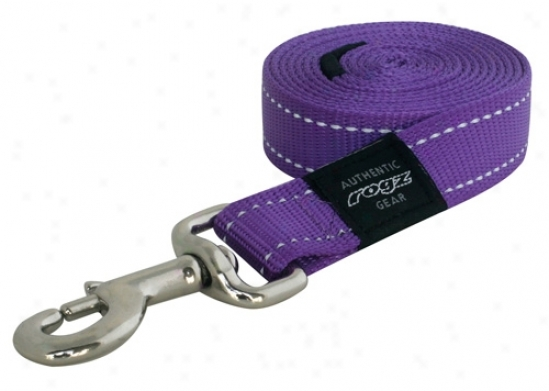 Rogz Lumberjack Fixed Long Lead - Reflective - Purple - 1