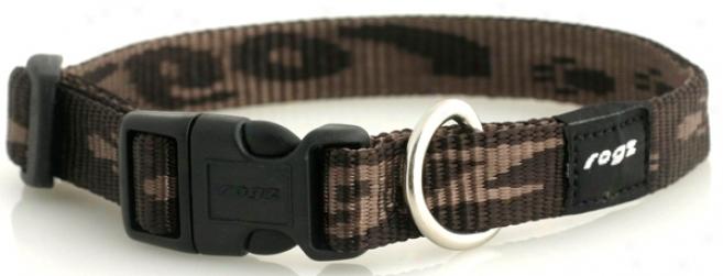 Rogz Matterhorn Collar - Chocolate - 5/8