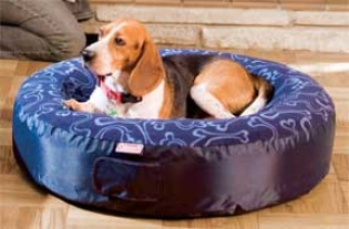 Round Dog Air Bed - Blue - 32x6 Inch