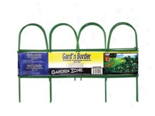 Round Folding Fence Border - Green - 10 Feet
