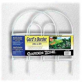 Round Folding Fence Border - White - 18 Inch X 8 Fee