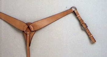 Royla King Rancher Breastcollar - Light Oil - Horse