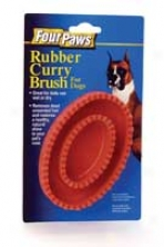 Rubber Curry Brush - Red