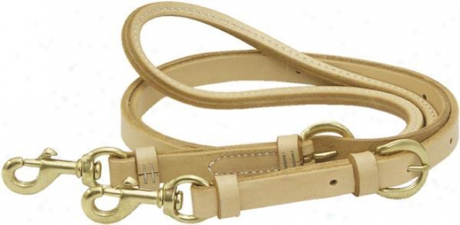 Saddlesmith Of Texzs Adjustable Reins - Burgundy Latigo - 3/4 X 7 1/2ft
