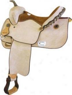 Saddlesmith Of Texas Balance Ride Roughout Saddle - Natural Roughout - 16
