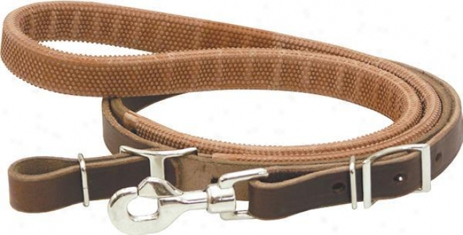 Saddlesmith Of Texas Barrel Racer Reins - Burgundy Latigo - 3/4 X 7 Ft
