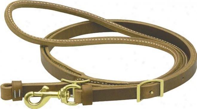 Saddlesmith Of Texas Delhxe Contest Reins - Burgundy Latigo - 3/4 X 8ft