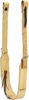 Saddlesmith Of Texas Floralflank Set - Natural Gold - 3 Wide